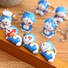 Cartoon Cute Doraemon Keychains 10pcs Creative Anime Cat Doraemon Key Chain Pendant For Children Bag Keyring Gifts toys 2020 cartoon cute pikachu keychains anime keyring bell key chain handbag key ring kid toy pendant for women men gifts