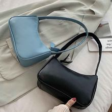 Handle Bag Women Retro Handbag Leather Shoulder Totes Underarm Vintage Top Handle Bag Female Small Subaxillary Bags Clutch