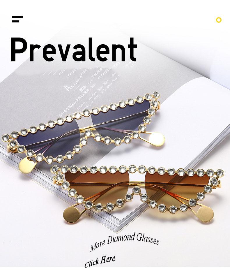 Italian Cateye Crystal Stone Rhinestone Sunglasses With Diamond for Women / pearl sunglasses