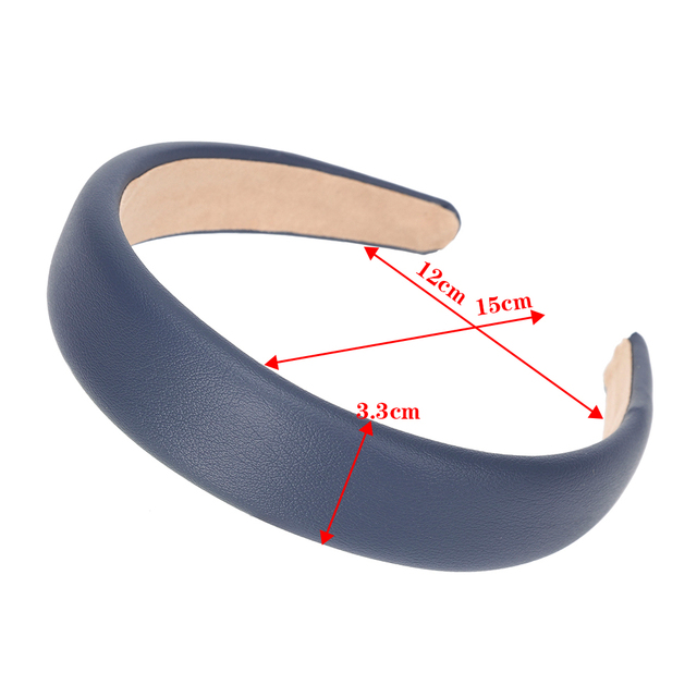 MOLANS New Fashion Solid Color Headhoop Leather Lattice Hairband Simple Ladies Headband 2020 Hair Accessories