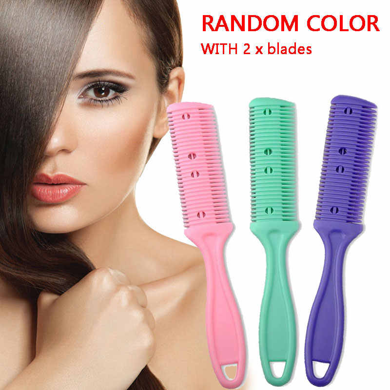 1pcs Double Sides Safe Hair Shaving R Razor Comb Cutter Cutting Thinning Shaper Haircut Grooming Hair Styling Tool Barber Razor