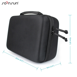 Image 4 - SOONSUN Portable Waterproof Shockproof Protective Storage Case Bag Box for GoPro Hero 9 8 7 6 5 4 for DJI Osmo Action Accessory