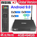 MECOOL K7 приемное устройство спутниковый приемник DVB-T2 DVB-S2 DVB-C 4K tv Box Android 9 0 4 Гб 64 Гб Amlogic S905X2 2 4G/5G Dual WiFi USB3.0