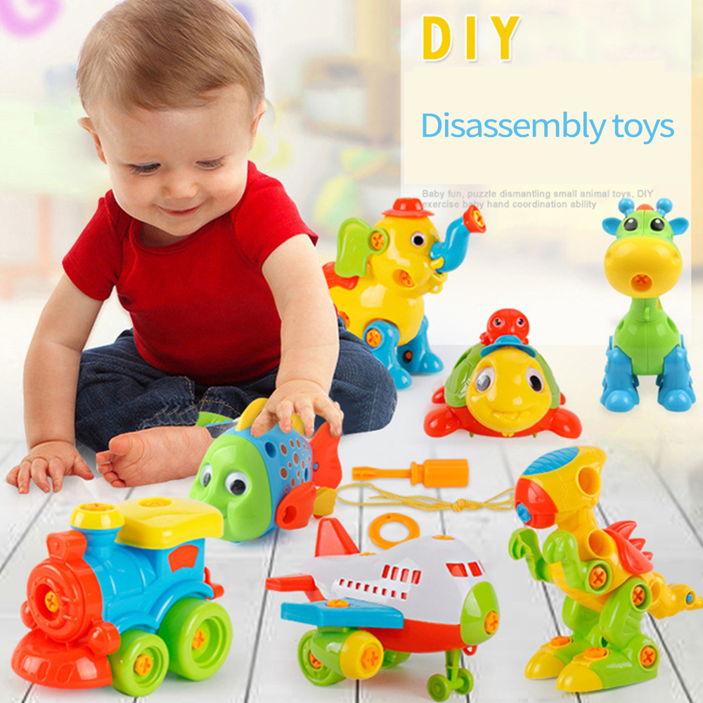 Screw Nut DIY 3D Puzzle Toys Disassembly Early Learning Education Kids//Baby