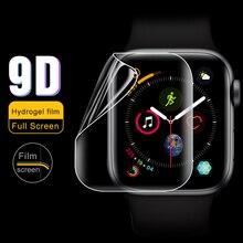 Экран протектор для наручных часов Apple Watch 38 мм, 42 мм, 40 мм 44 9D гидрогель пленка из закаленного Стекло для наручных часов iwatch, 5/4/3/2/1 защитный Стекло пленка