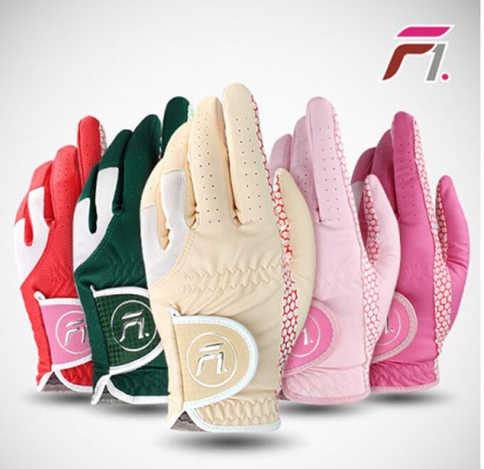 Luvas de Golfe Mulheres Microfibra Luva Mujer Esquerda – Mão Rright Elástico Slip-resistente Protetor Solar Handschoen Heren