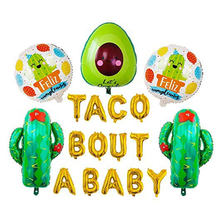 Ballons en aluminium de 16 pouces, décorations de fête à thème de Cactus pour bébé, annonce de grossesse
