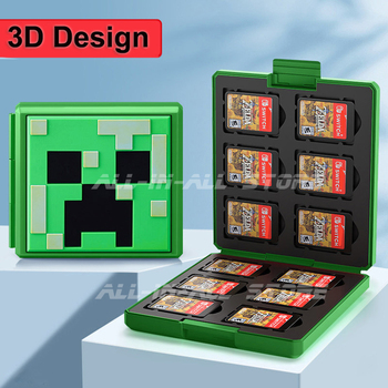 3D Nintendoswitch 12 Game Card Storage Case Hard Shell Protective Shockproof Games Box for Nitendo Nintendo Switch Accessories 1