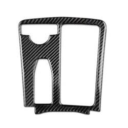 Dla Mercedes Benz C klasa W204 E klasa W212 pokrywa panelu konsoli z włókna węglowego wykończenia w Naklejki samochodowe od Samochody i motocykle na