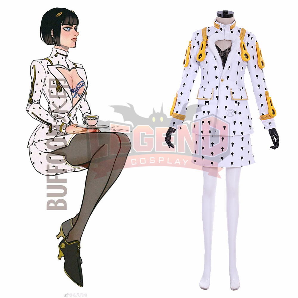 Anime JOJO 5 JoJo's Bizarre Adventure Golden Wind Bruno Bucciarati Cosplay Costume female version halloween costume