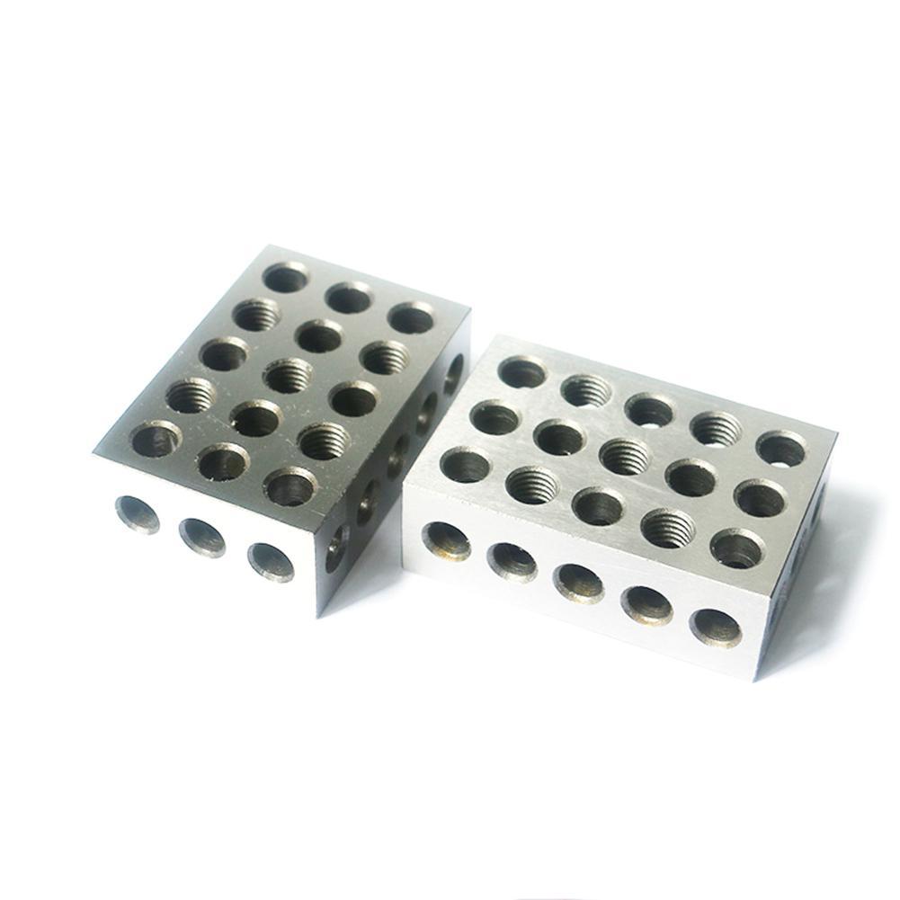 2 Pc Precision 25-50-75mm Blocks 23 Holes Parallel Clamping Block Lathe Tools