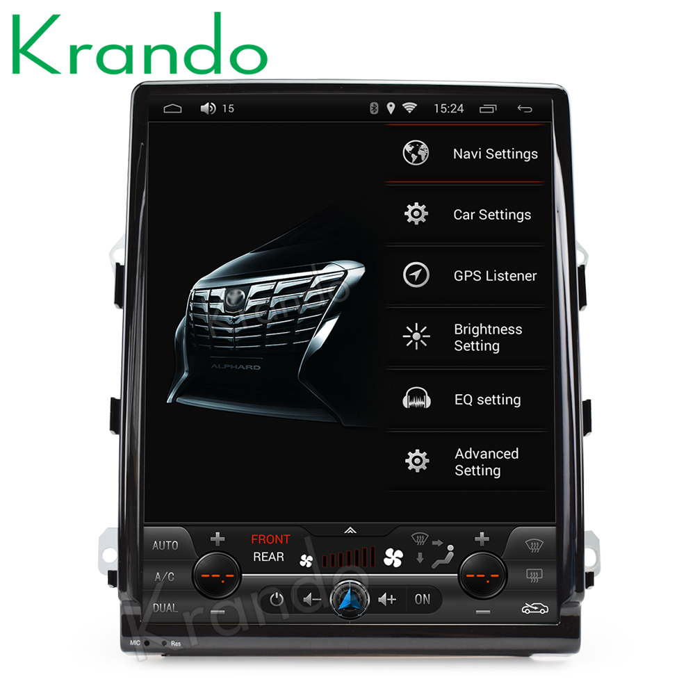 Krando Android 6 0 10 4 Tesla Vertical screen car audio multimedia player for Porsche Cayenne