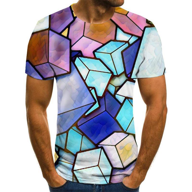 2021 New high quality T-shirt 2020 rare things short sleeve fashion design men's 3D animal print T-shirt summer casual T-shirt