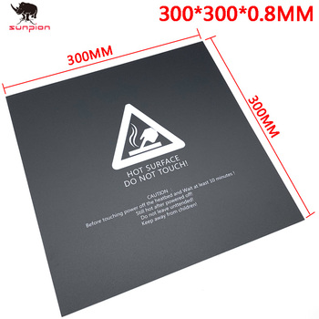 1PCS 3D Printer Parts 300*300mm Frosted Heated bed Sticker printing Build Sheets build plate tape Platform Sticker image