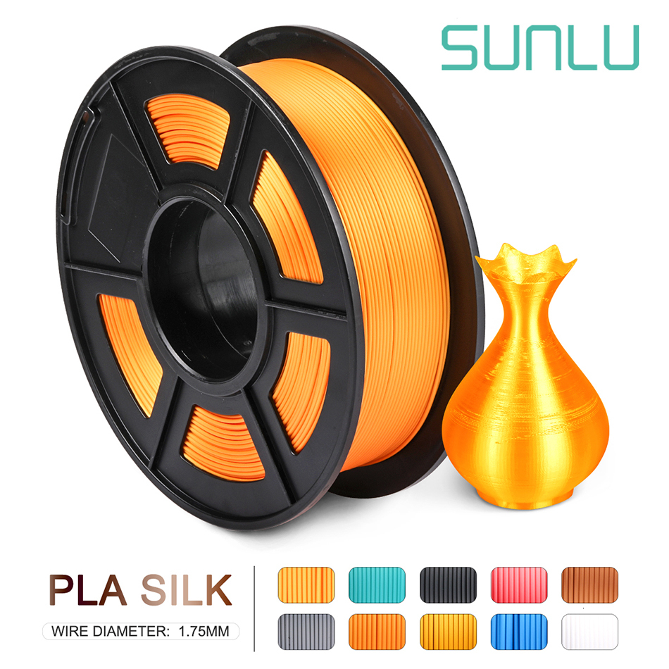 SUNLU Filament PLA 1.75MM 3d Filament For 3d Printer Supplies Neat Winding Printing Consumables 1KG Silk PLANo Tangle