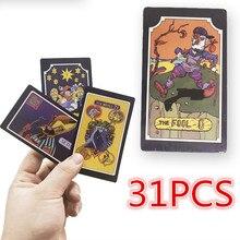 31pcs/set JoJo Bizarre Adventure Tarot Card 22 Grand Akana + 9 Royal Gods Cosplay Props Anime Chess Card Gift Tarot Card
