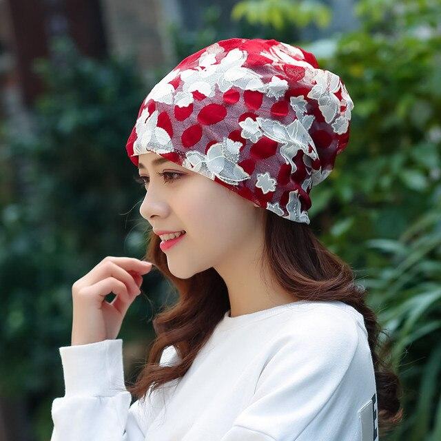Spitze Stickerei Korea Stil Pile Kappe frauen Frühjahr und Sommer Kopf Kappe Chemotherapie Kappe Erwachsene Hüte Beliebte