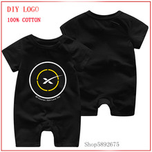 spaceX of course I Still I love you black yellow printed romper Newborn Baby
