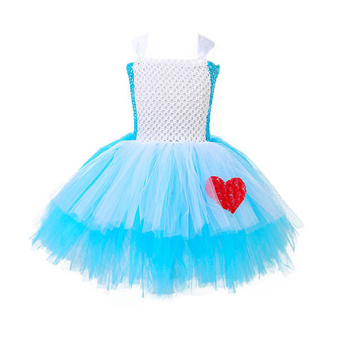 Princess Alice Tutu Dress Baby Girls Birthday Party Dresses Kids Alice in Wonderland Cosplay Costume Halloween Holiday Pageant