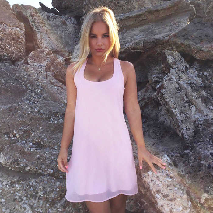 Zomer Jurk 2020 Mode Boog Casual Vrouwen Zonnejurk Effen Kleur Strand Jurk Chiffon Jurk Vrouwen Kleding Vestidos Plus Size