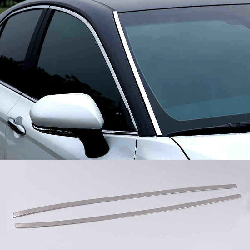 Lsrtw2017 for Toyota Camry XV70 Car Front Window Trims Decorative Interior Accessories 2018 2019 2020