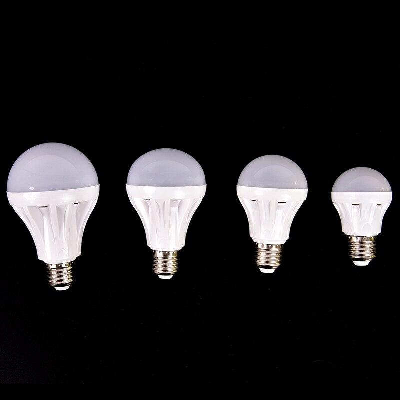 LED Smart Bulb E27 5w 7W 9W Led Emergency Light AC 220V DC 12V Rechargeable Battery Lighting Lamp For Outdoor Lighting Bombillas