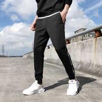 2020 printemps nouveau cheville-longueur Streetwear pantalons de survêtement hommes noir survêtement pantalon Slim Fit pantalons décontractés grandes tailles 6XL 7XL 8XL