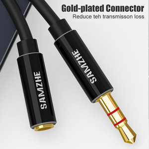 Image 2 - Удлинительный аудиокабель SAMZHE Jack 3,5 мм, кабель Aux, удлинитель типа «Папа мама» для наушников, ноутбука, музыкального плеера