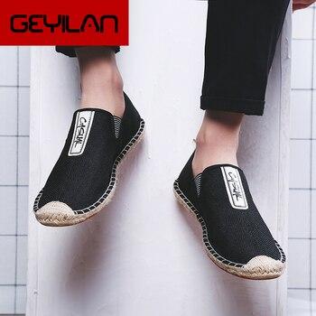 Zapatos de verano Para Hombre, zapatillas de lona Para Hombre, zapatos transpirables...