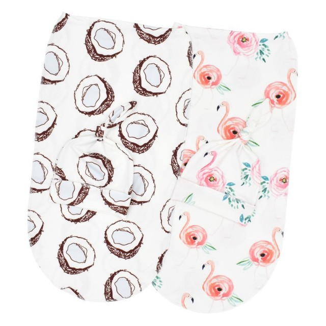 2 Pcs/Set Baby Sleeping Bag And Cap Printed Cute Baby Blanket And Hat Bedding For Newborn Babies Infants Hot 5