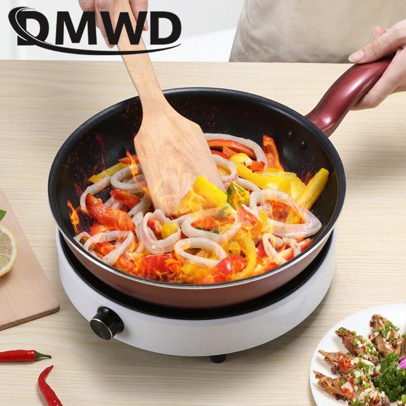 Электрическая индукционная плита DMWD, бытовая круглая умная нагревательная плита с точным управлением s варочная поверхность, 2200 Вт 4