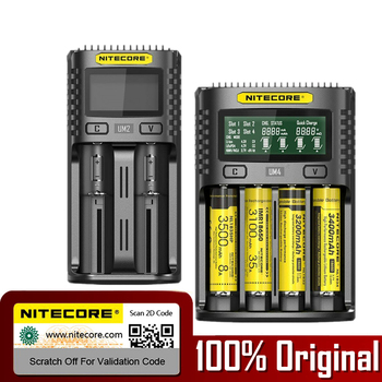 NITECORE UMS2 UMS4 UM2 UM4 SC4 inteligentny kontroli jakości ładowarka do 18650 16340 21700 20700 22650 26500 18350 aa ładowarka do baterii aaa tanie i dobre opinie Elektryczne nitecore um2 um4 WYJŚCIE USB Standardowa bateria