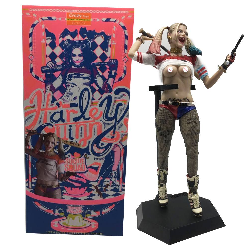 12inch 30cm Real Clothes Can be Undress Crazy <font><b>Toys</b></font> <font><b>Sexy</b></font> Suicide Squad Harley Quinn PVC <font><b>Action</b></font> <font><b>Figure</b></font> Collectible Model <font><b>Toy</b></font> Dol image