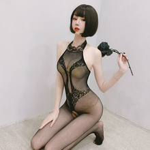 Catsuit Fishnet Underwear Crotchless Lingerie Sexy Costumes Porno Open-Crotch Babydoll