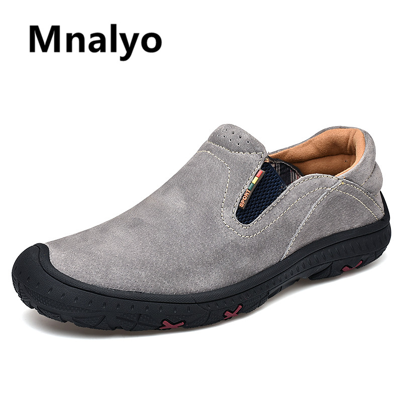 Men Casual Shoes Fashion Men Shoes Genuine Leather Men Loafers Moccasins Slip On Mens Flats Male Driving Shoes,01 Gray,14