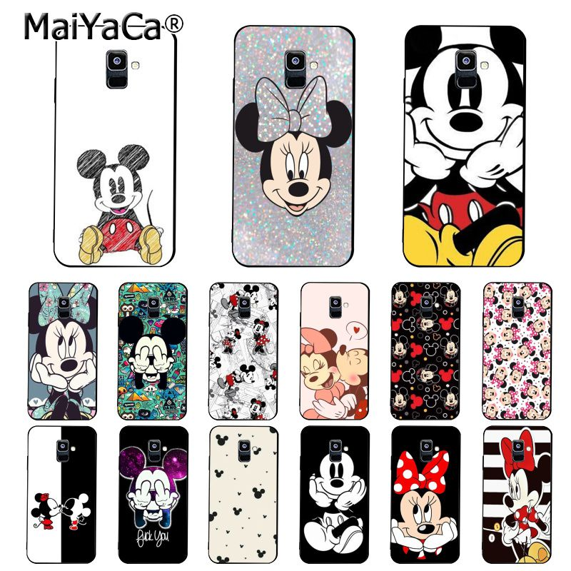 MaiYaCa Schönheit Cartoon Mickey Minnie Maus Telefon Fall Für <font><b>Samsung</b></font> <font><b>Galaxy</b></font> A7 A8 A6 Plus A750 A9 2018 A50 A70 a20 A30 A40 image