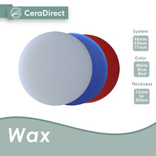 Ceradirect WAX disc-Open system (98mm)-White/Red/Blue(8 pieces) —