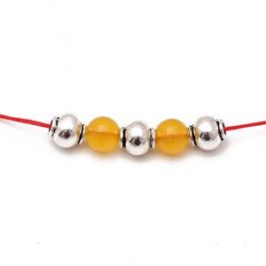 20 шт./лот, модные тибетские серебряные бусины-разделители, 8 мм, ручная работа, металлические бусины для молитвы, сделай сам, ювелирное издели...