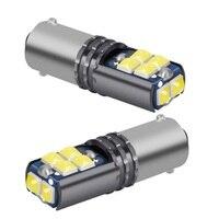 Bombillas Led superbrillantes para Interior de coche, luz de aparcamiento de coche, blanco, rojo, amarillo, cristal azul, 12V, T11 233 363 BA9S, 2 uds.