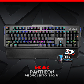 MK882 Optical axis Mechanical Keyboard Waterproof And Dust-Proof English Professional Gaming Keyboard For Keybord Gamer