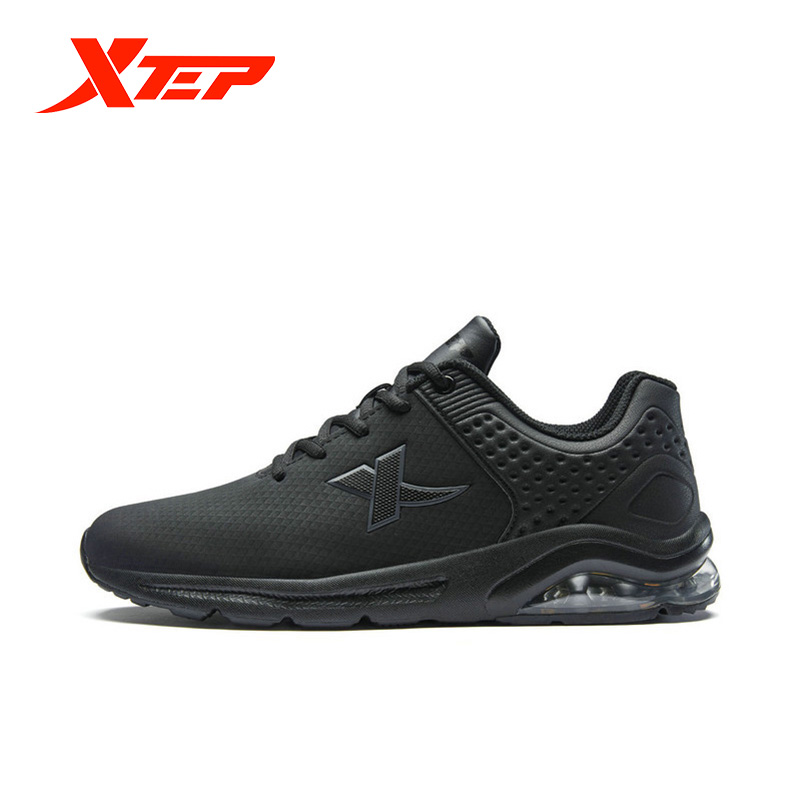 Xtep Men Half Air Running Shoe Lightweight Sneakers Mesh Absorption Sports Running Shoes Men Casual Leisure Shoe 881119119266