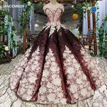 HTL094 gonflé brillant robes de soirée 2020 robe de bal hors de lépaule chérie à lacets dos longueur de plancher fleurs