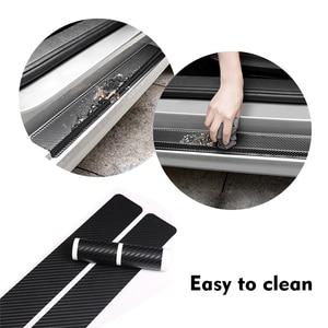 Image 5 - 4 pçs de fibra carbono adesivos porta do carro soleiras protetor porta scuff placa para volvo s80 acessórios interiores