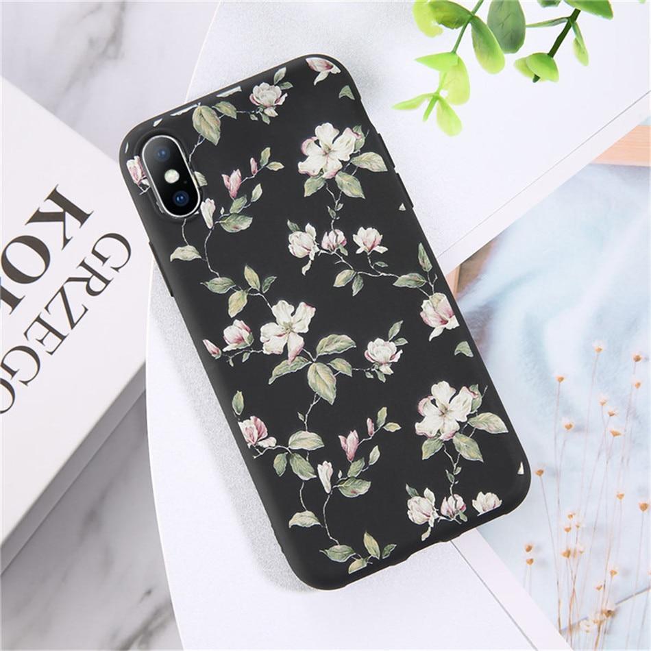 Kolor czarny z biało-różowymi kwiatami.