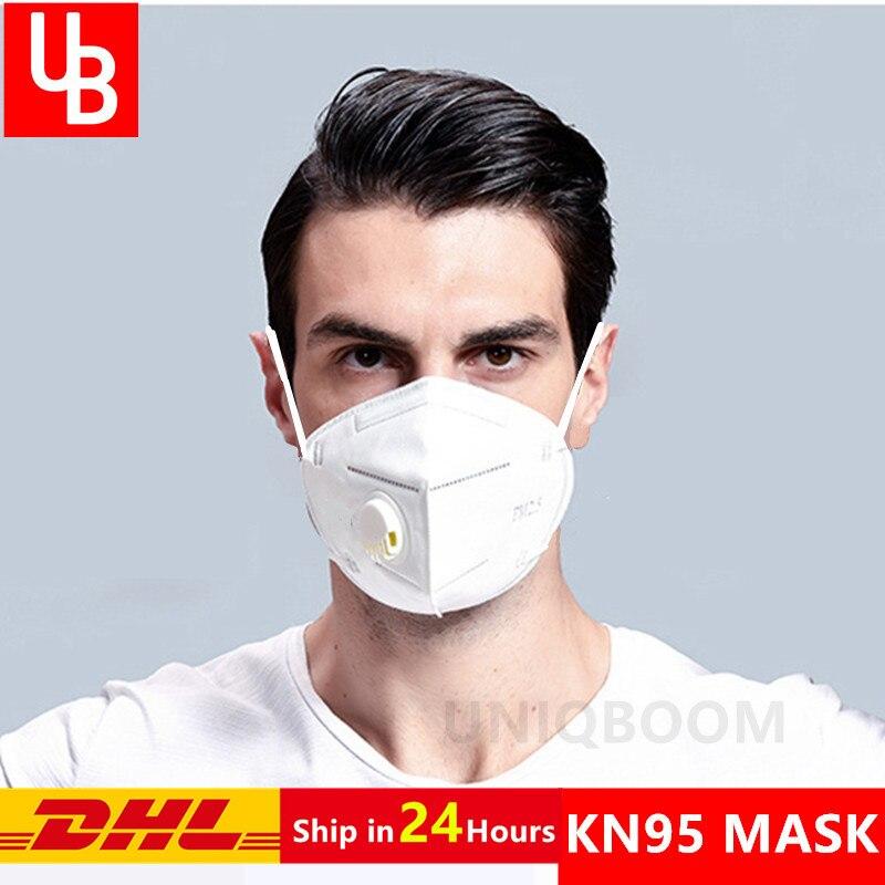 KN95 Mask 95% Filtration Mouth Face Dust Mask Antivirus Protective Filter Air Valved Respirator PM 2.5 Cubrebocas Gas Masks