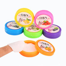 Одноразовая салфетка для снятия лака ногтей obn мытья в коробке