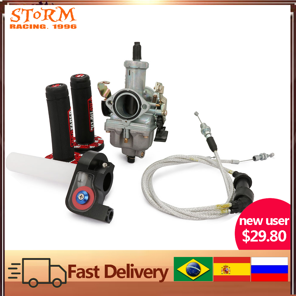 PZ30 30mm Carburetor Accelerating Pump Racing 200cc 250cc For Keihin ABM IRBIS TTR 250 With Dual Throttle Cable Length 131cm image