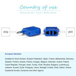 Image 5 - 10 adet abdden ab tak adaptörü Euro avrupa ab seyahat adaptör prizi elektrik dönüştürücü güç şarj soketleri