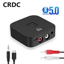 Crdc Bluetooth 5.0 Ontvanger Nfc 3.5 Mm Aux 2RCA Jack Hifi & Stereo Bluetooth Auto Draadloze Adapter Muziek 3.5 Audio ontvanger Auto Op