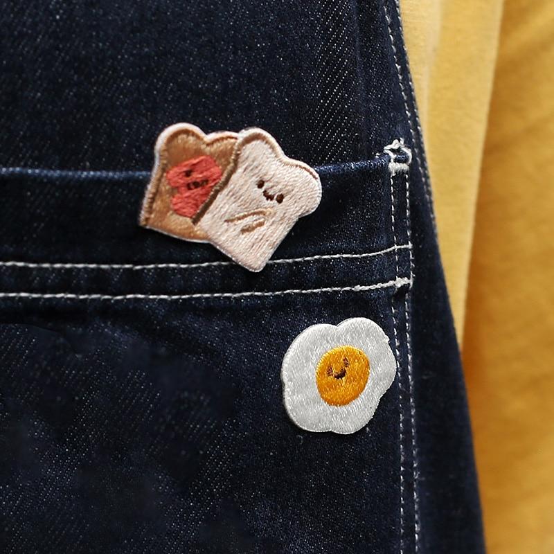 Mohamm 1PCS Soft Cute Creature Series Embroidery Sticker Girl Creative Kawaii Lovely Bread Ice Cream Sticker Handbook School